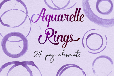 Purple Circles, Aquarelle Rings