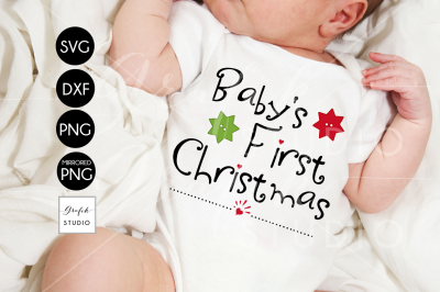Babys First Christmas SVG File for Cricut