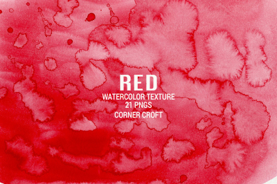 Watercolor Texture Red