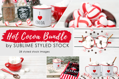 Hot Cocoa Bundle of 28 styled images