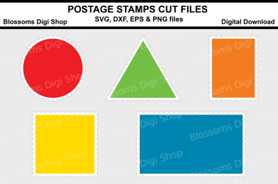 Postage Stamps cut files, SVG, DXP, EPS and PNG files