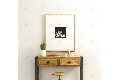 Poster Mockup Reclaimed Wood