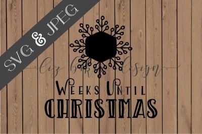 Christmas Countdown Cut File SVG JPEG
