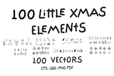 100 Little Xmas Vector Elements