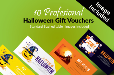 10 Halloween Voucher Bundle