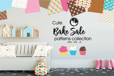 BAKE SALE Patterns collection, digital papers