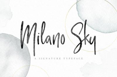 Milano Sky - Signature Script font - handwritten font