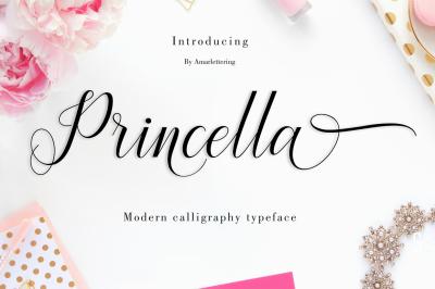 Princella Script | 6 Font