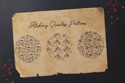 alchemy seamless patterns
