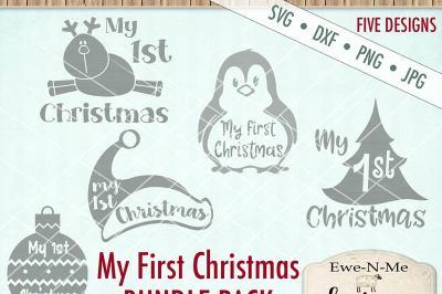 My First Christmas SVG Bundle