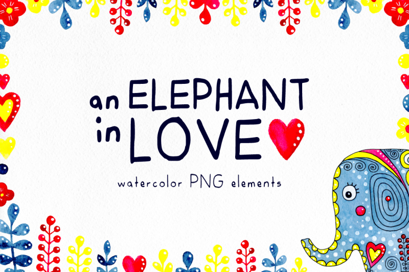 an-elephant-in-love-watercolor-set