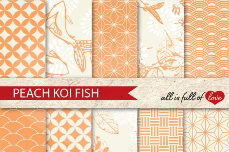 peach-patterns-koi-fish-background-kit-digital-scrapbook