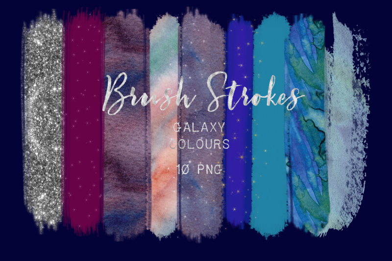 brush-strokes-clip-art-galaxy-colours-star-galaxy-colors-silver-glitter-light-purple-gold-stars-blue-purple-digital-design-resources