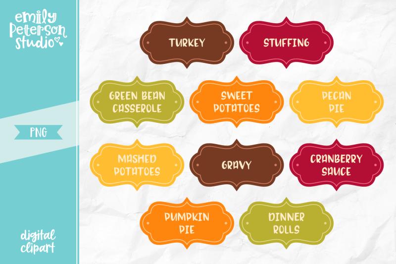 thanksgiving-dinner-labels-clipart