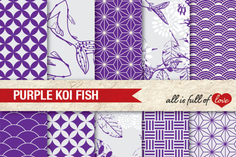 purple-patterns-koi-fish-background-kit
