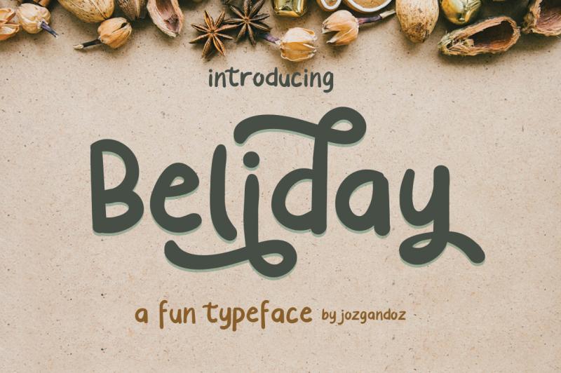 beliday-fun-display-font