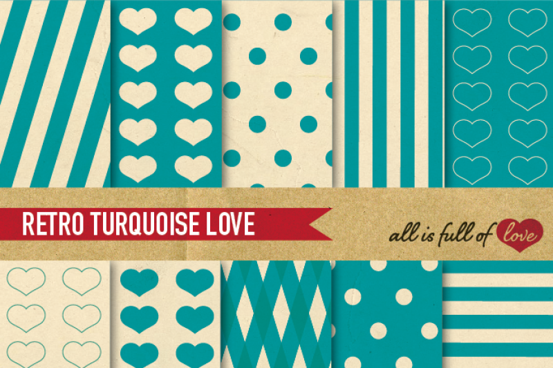 vintage-backgrounds-in-turquoise-green-digital-paper-pack-teal-retro-patterns