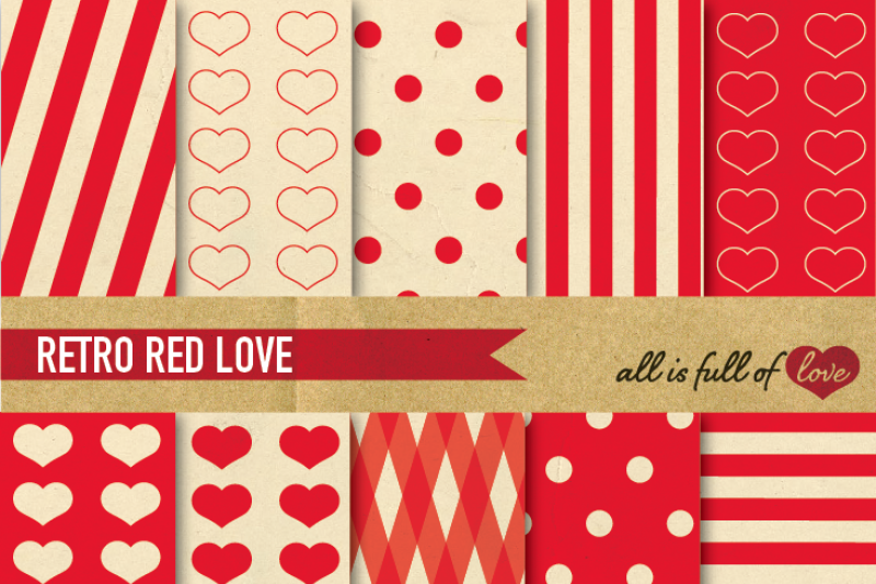 vintage-backgrounds-in-red-love-collection