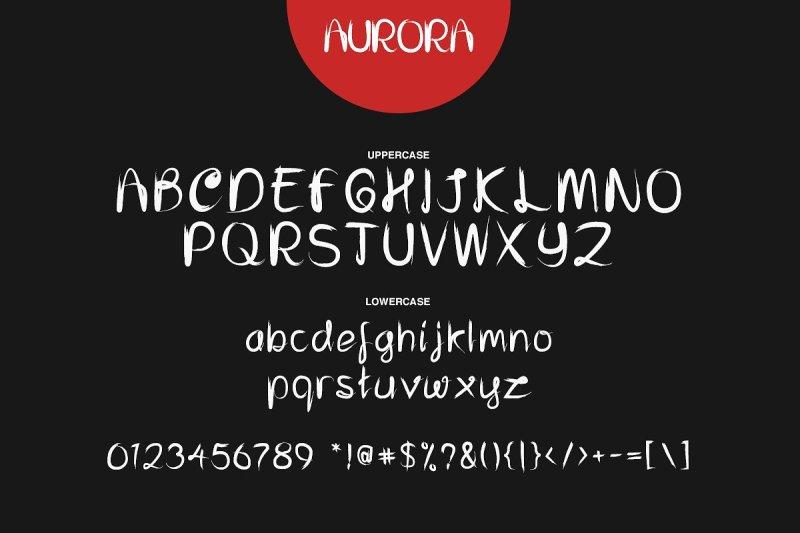 aurora-font-trio