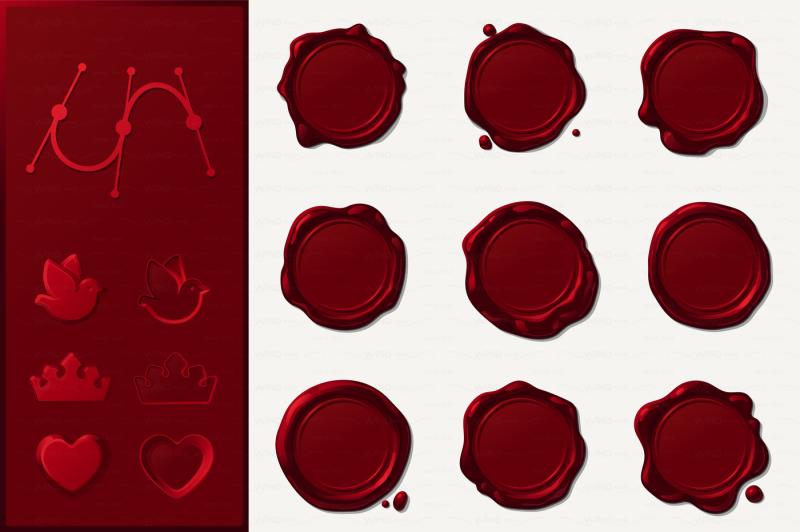 vector-wax-seals-set