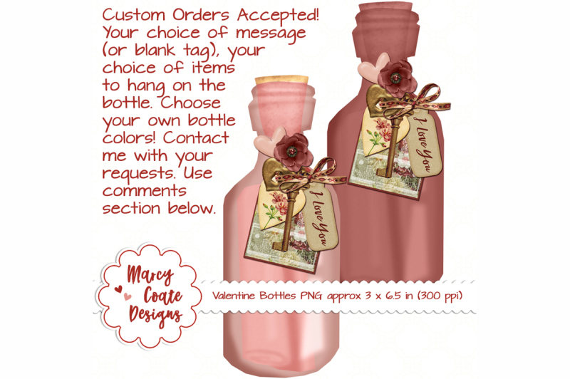 valentine-bottles-set-of-2-shabby-chic-png-clipart