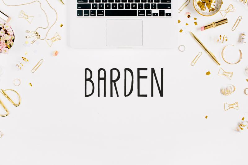 barden-handmade-font