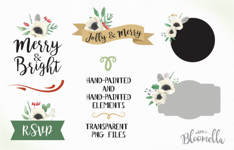 christmas-red-and-green-holidays-package-festive-watercolour-kit