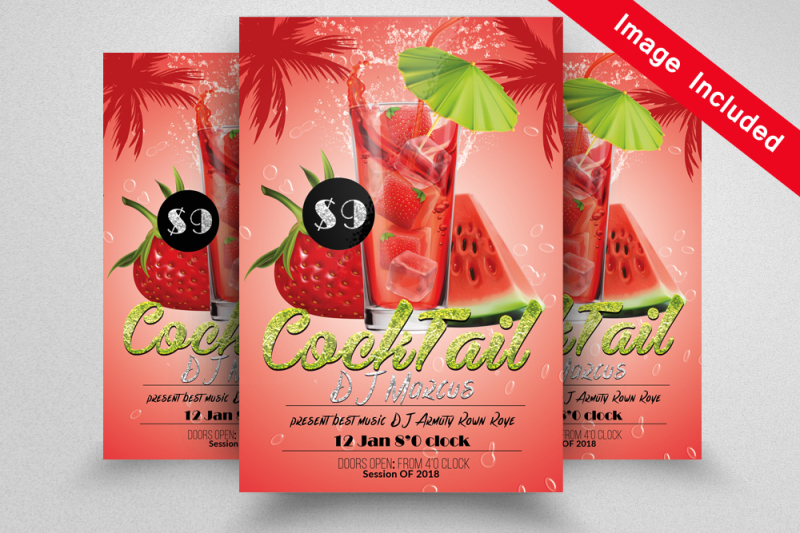 cocktail-flyer-template