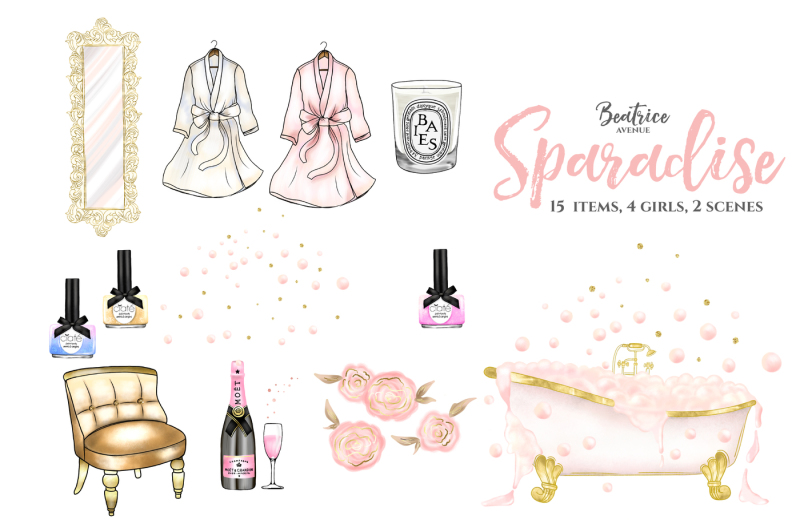 sparadise-fashion-clipart-set