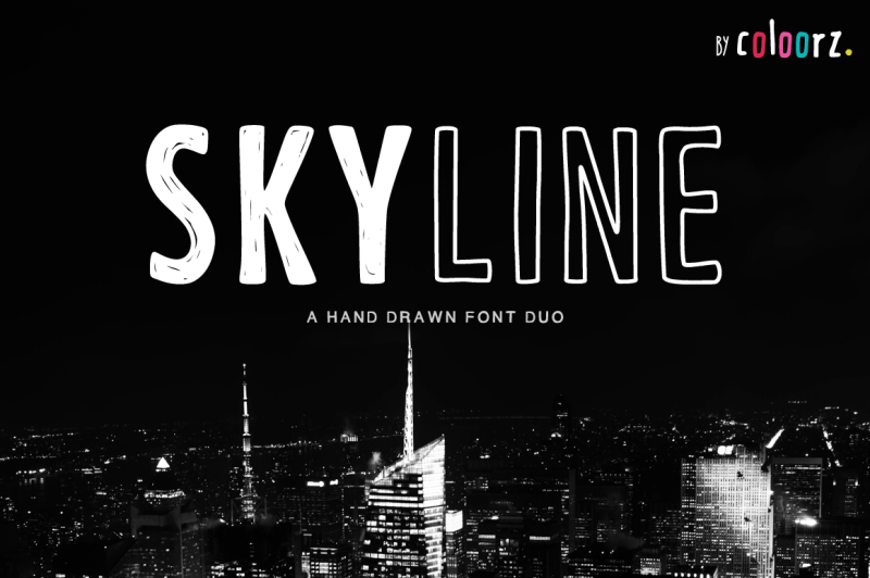 skyline-a-hand-drawn-font-duo