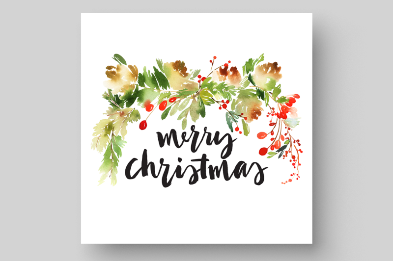 christmas-set-with-floral-elements