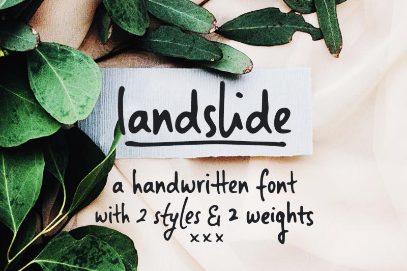 landslide-a-handwritten-font