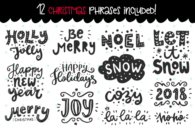610-christmas-doodles-clipart-set