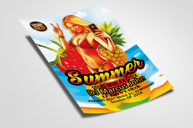 summer-party-template-flyer