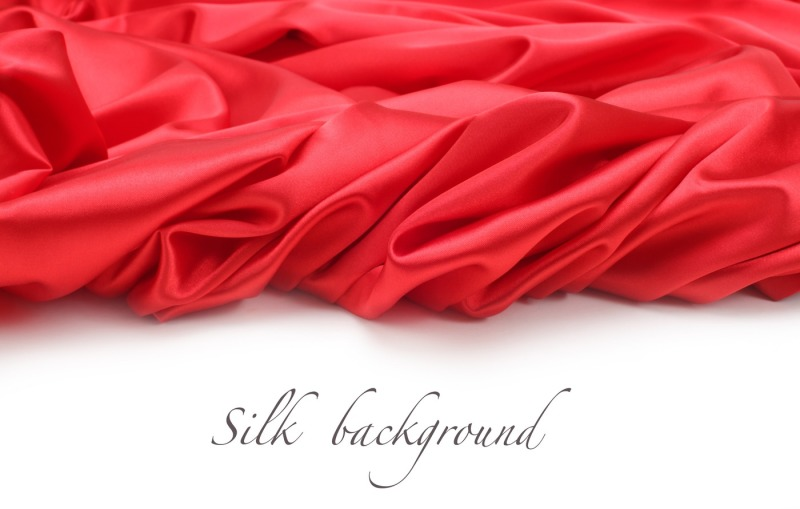 red-silk-fabric-background