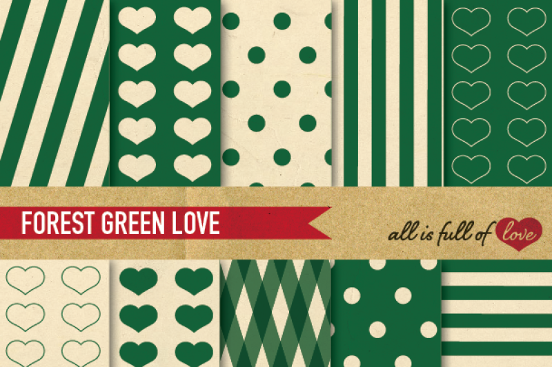 vintage-backgrounds-in-green-love-collection