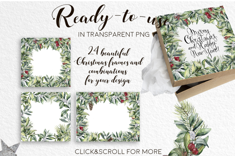 elegant-christmas-watercolor-clip-art