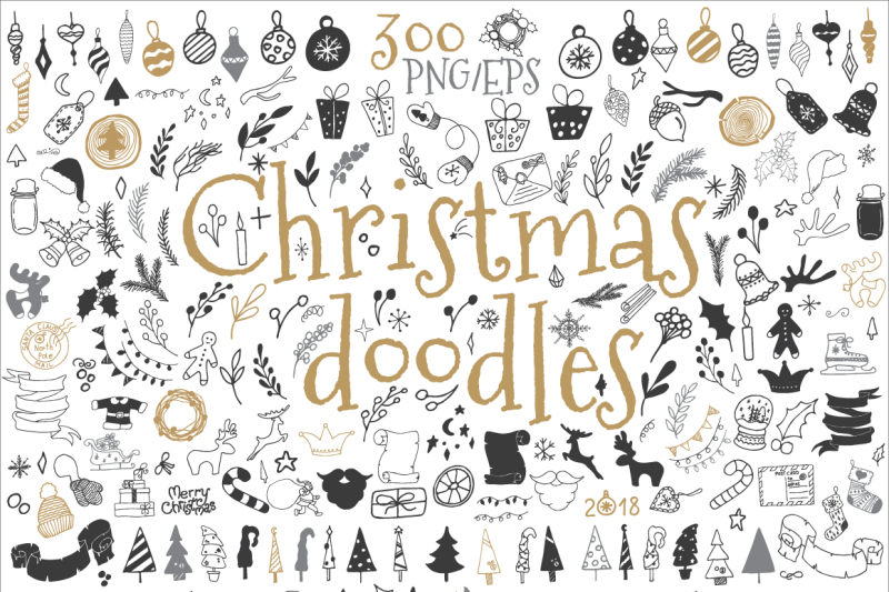 300-christmas-doodle-icons-and-design-elements-clipart