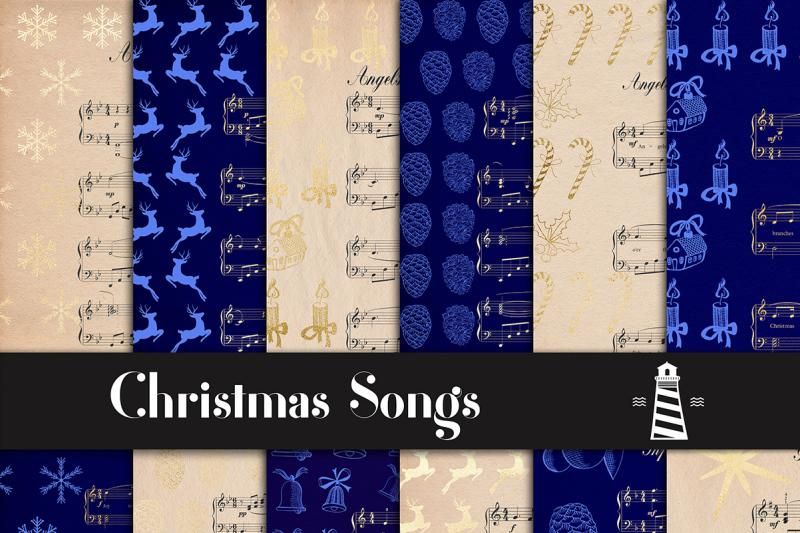 christmas-songs-digital-paper