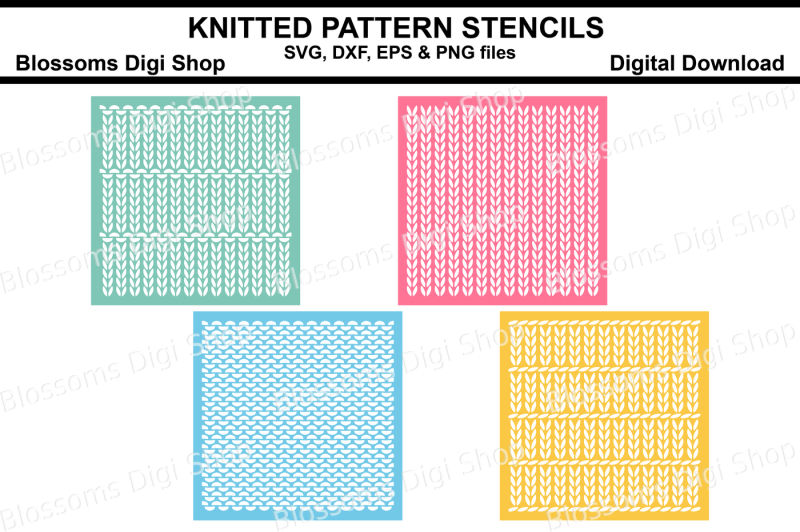 knitted-pattern-stencils-svg-dxf-eps-and-png-files