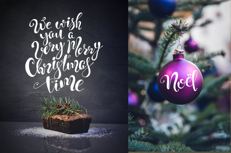 christmas-quotes-hand-deawing-lettering-set