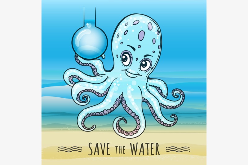 save-the-water-illustration