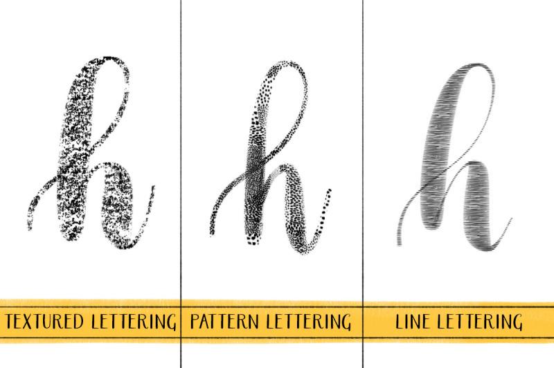 textured-procreate-lettering-brushes-set-1