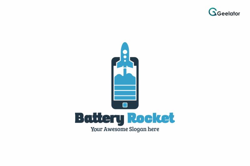 battery-rocket-logo-template