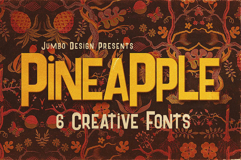 pineapple-funny-style-font