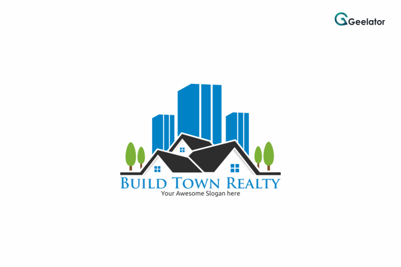 build-town-realty-logo-template