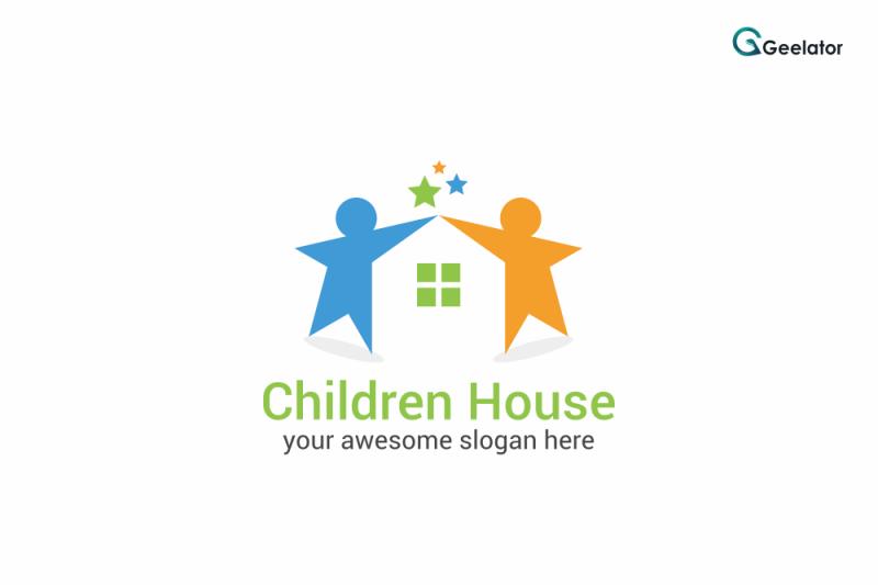 children-house-logo-template