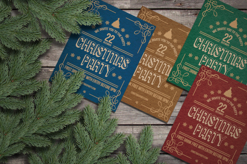christmas-retro-party-rustic