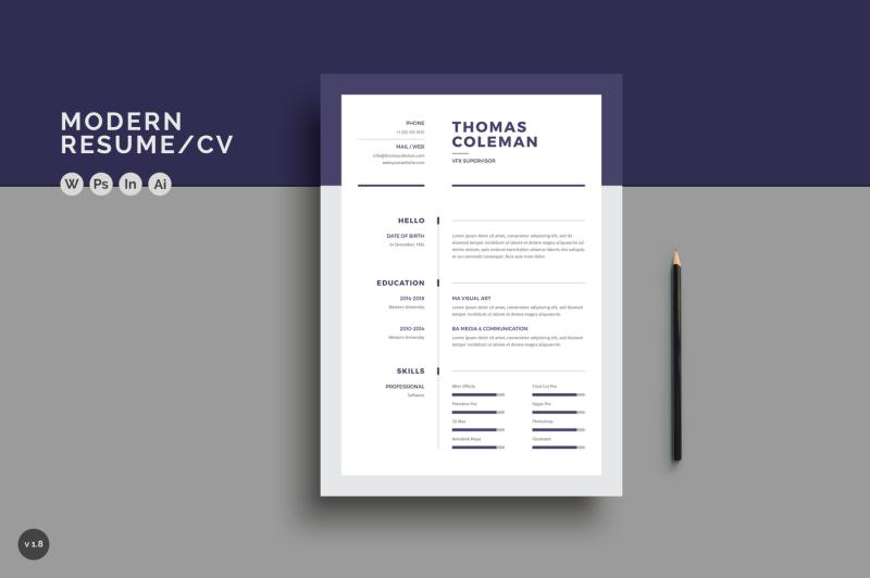 resume-cv-3-page