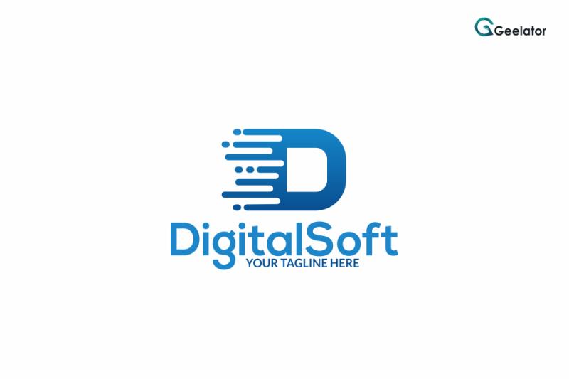 digital-soft-logo-template
